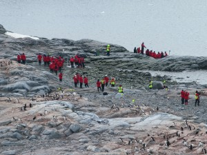 Tourists in Antarctica.